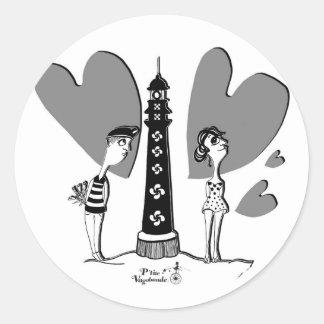 Coil in Biarritz Classic Round Sticker