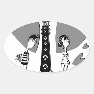 Coil in Biarritz Oval Sticker