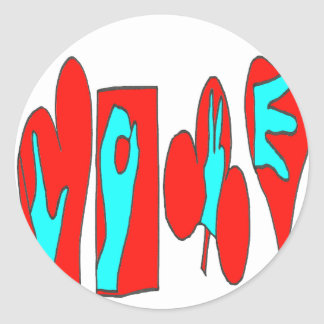 COIL SM1.png LANGUAGE Classic Round Sticker