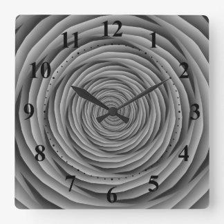 Coiled Cables in Black and White Clock