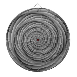 Coiled Cables in Black and White Dartboard