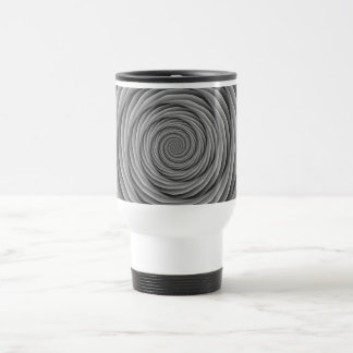 Coiled Cables in Black and White Mug