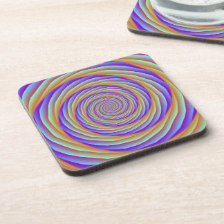 Coiled Cables in Orange Blue and Pink Coasters