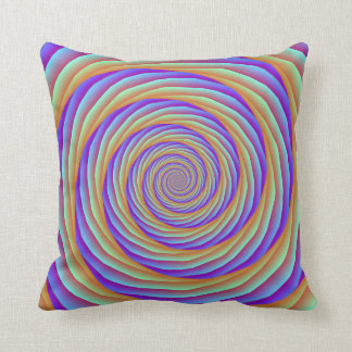 Coiled Cables in Orange Blue and Pink Pillows