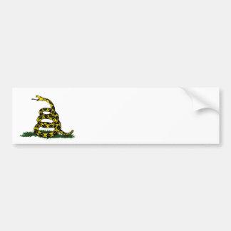 Coiled Gadsden Flag Snake Bumper Sticker