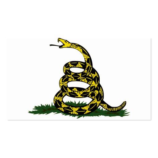 Coiled Gadsden Flag Snake Business Card Template