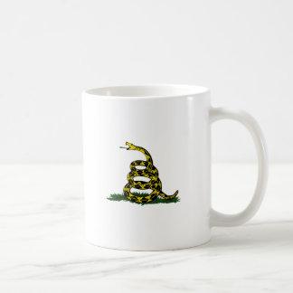Coiled Gadsden Flag Snake Coffee Mug