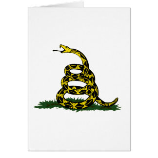 Coiled Gadsden Flag Snake Greeting Card