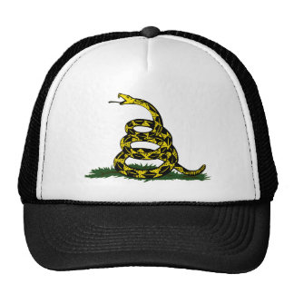 Coiled Gadsden Flag Snake Mesh Hats