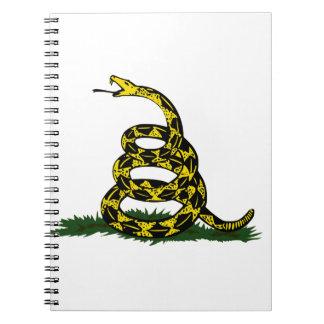 Coiled Gadsden Flag Snake Spiral Notebook