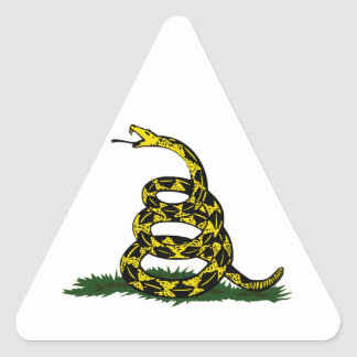 Coiled Gadsden Flag Snake Triangle Sticker