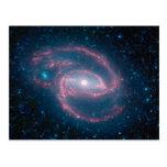 Coiled galaxy postcard