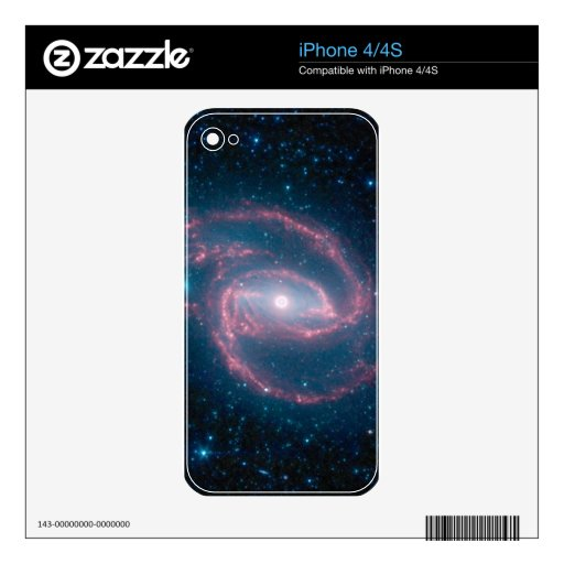 Coiled galaxy decal for the iPhone 4S