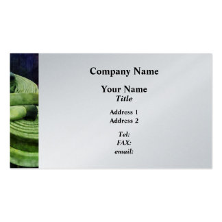 Coiled Hose in Fire Truck  - Platinum Finish Business Card Template