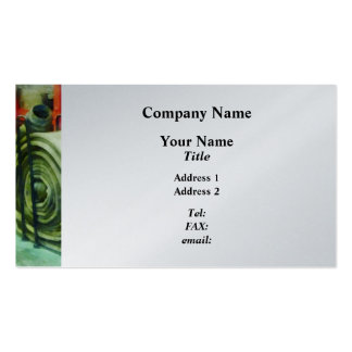 Coiled Hose on Fire Truck Business Cards