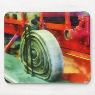 Coiled Hose on Fire Truck Mouse Pad
