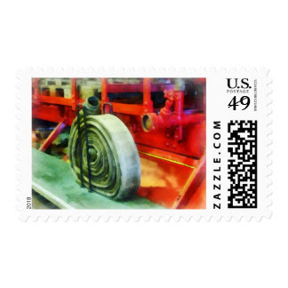 Coiled Hose on Fire Truck Postage