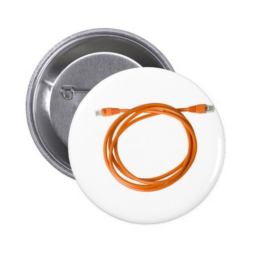 Coiled network cable 2 inch round button