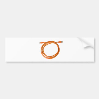 Coiled network cable bumper sticker