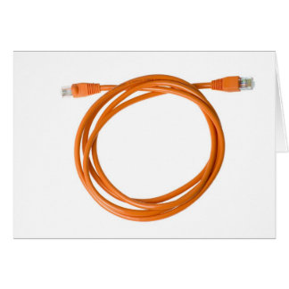 Coiled network cable card
