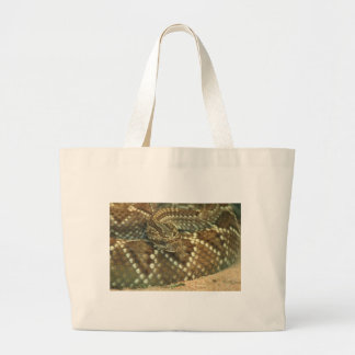 Coiled Rattlesnake Canvas Bag