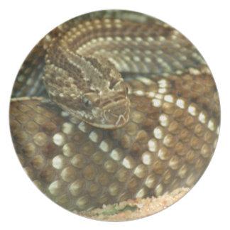 Coiled Rattlesnake Melamine Plate