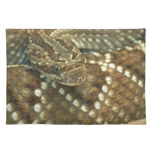 Coiled Rattlesnake Placemats