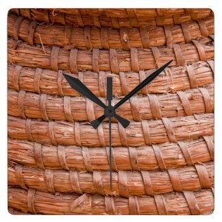 Coiled reed wallclock