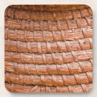 Coiled reed drink coaster