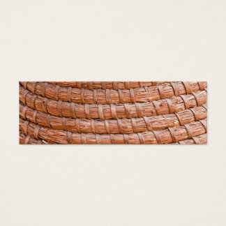 Coiled reed mini business card