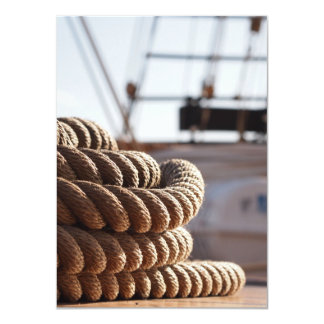 Coiled Rope on Ship Deck Card