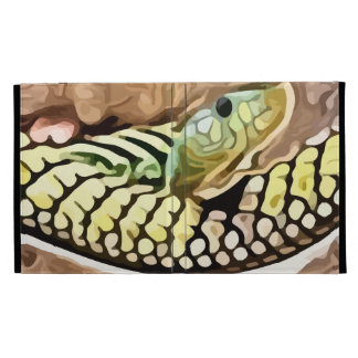 coiled snake painting iPad case