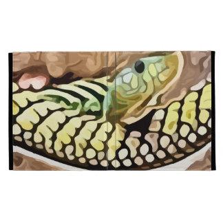 coiled snake painting iPad folio case