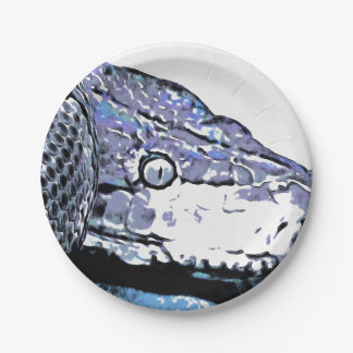 Coiled snake paper plate