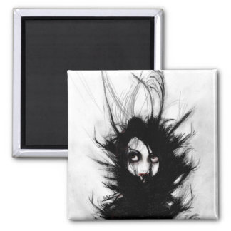 Coiling and Wrestling. Dreaming of You 2 Inch Square Magnet