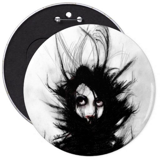 Coiling and Wrestling. Dreaming of You 6 Inch Round Button