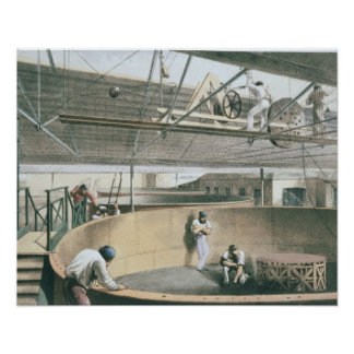 Coiling the telegraph cable in the tanks at the wo poster