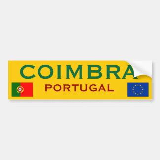Coimbra* (Portugal) Bumper Sticker Car Bumper Sticker