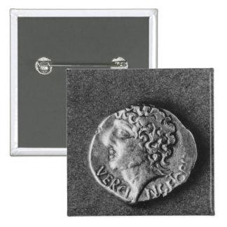 Coin bearing the effigy of Vercingetorix Pin