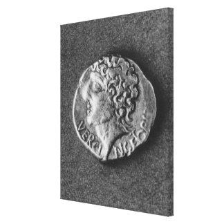 Coin bearing the effigy of Vercingetorix Canvas Print