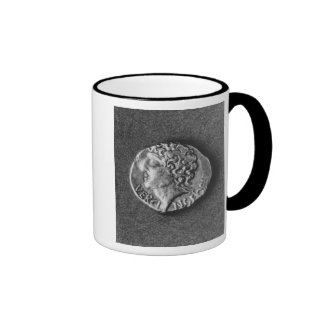 Coin bearing the effigy of Vercingetorix Ringer Coffee Mug