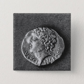 Coin bearing the effigy of Vercingetorix Pinback Button