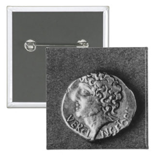 Coin bearing the effigy of Vercingetorix Pinback Button