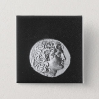 Coin bearing the head of Alexander the Great Pinback Button