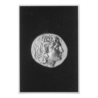 Coin bearing the head of Alexander the Great Posters