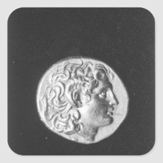 Coin bearing the head of Alexander the Great Square Sticker