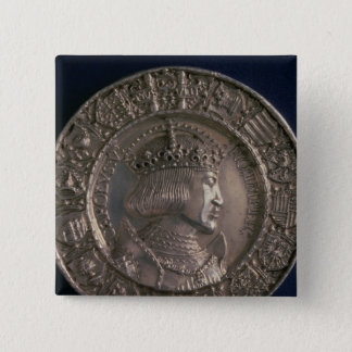 Coin bearing the portrait of Charles V Button
