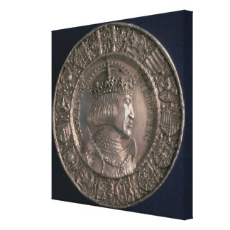 Coin bearing the portrait of Charles V Gallery Wrap Canvas