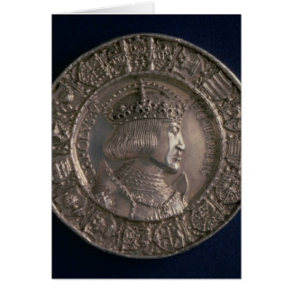 Coin bearing the portrait of Charles V Card