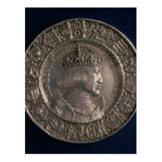 Coin bearing the portrait of Charles V Postcard